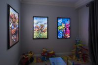 LED Backlit Display in kids playroom
