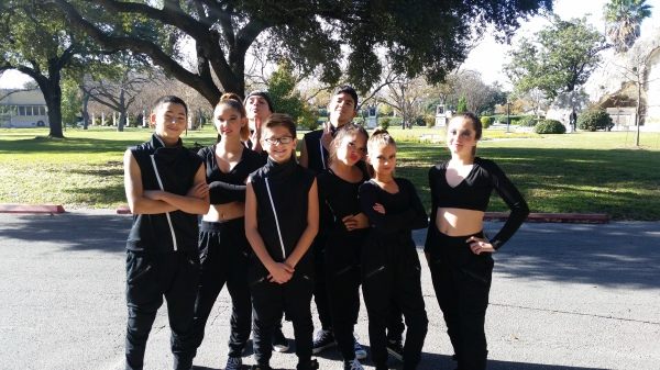 Vype Hype getting ready to perform at the Christmas Extravaganza 2015