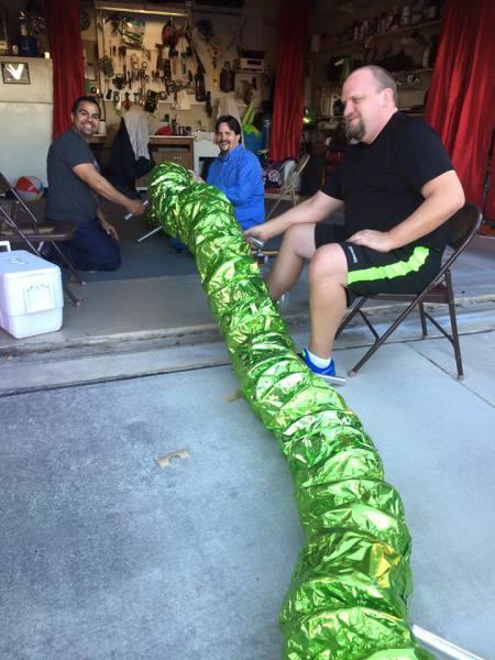 Dads working on the Venom Snake