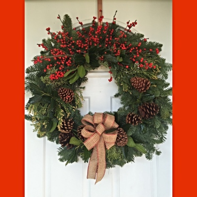 Holiday Wreath with Berries