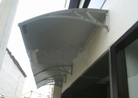 fiber awnings, polycarbonate, polycarbonate awnings, acrolic awnings,