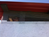 hardware cloth, roost vent
