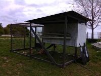 chicken tractor, mobile chicken coop.