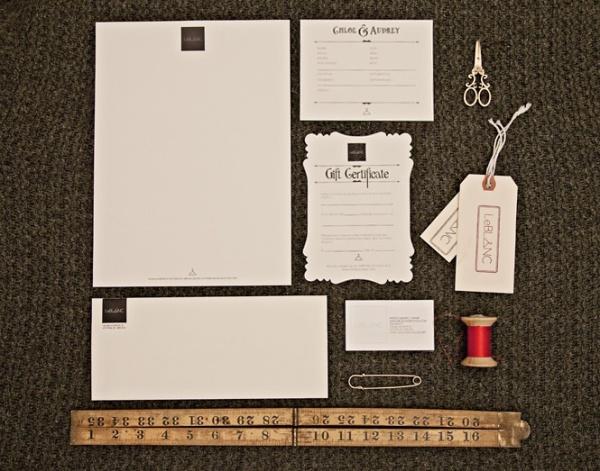 LeBLANC stationary designed by Blair Farrington