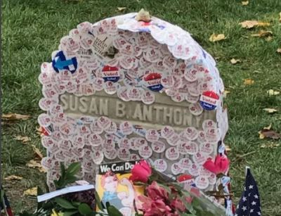 Susan B. Anthony's Grave Goes Viral with 'I Voted' Stickers
