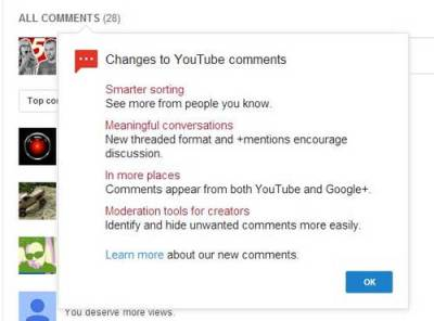 Youtube Changes Comments Section