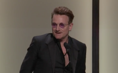 Bono Roasts Himself at Glamour Women of the Year Awards