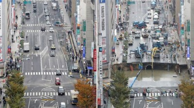 Japanese Sinkhole Fixed in Record Time