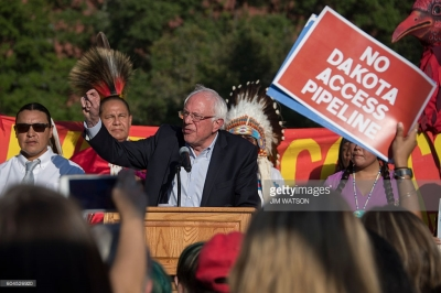 Bernie Sanders Gets Vocal About Dakota Pipeline