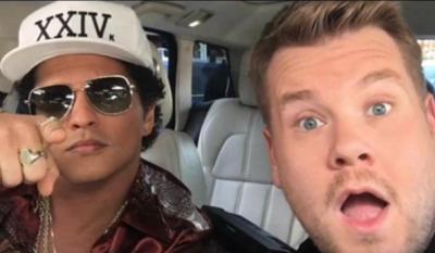 Bruno Mars Joins James Corden for Carpool Karaoke
