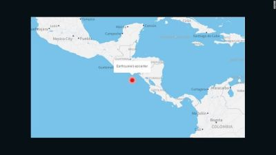 Earthquake hits off coast of Central America