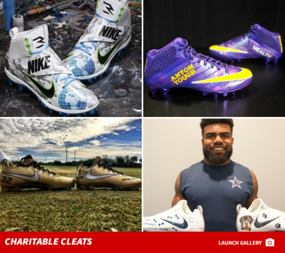 NFL Stars Get Custom Cleats for Charity