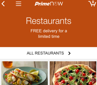 Amazon Taking On Restaurant Delivery