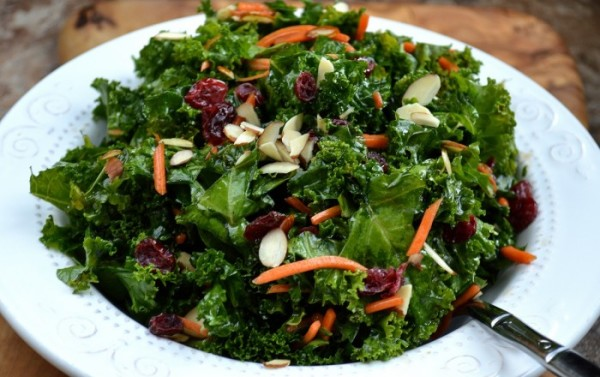 Kale & Spinach Salad with Alaskan Birch Syrup Dressing
