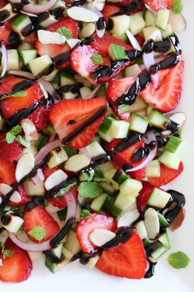 Fresh Alaskan Strawberry-Cucumber Salad