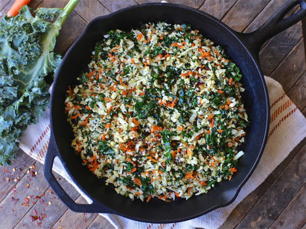 Cauliflower Fried Rice with Kale