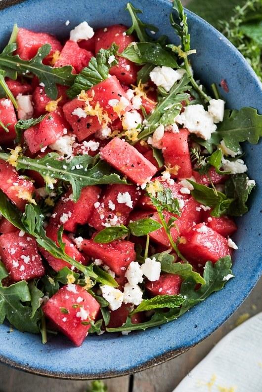 Watermelon, Arugula & Cucumber Salad