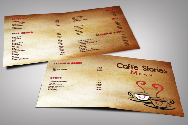 Caffe Stories Menu