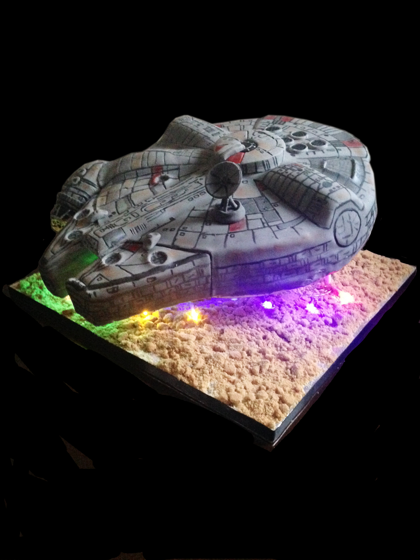 millennium falcon cake by NJL Creations