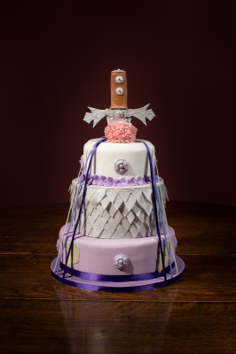 Tudor Hand Fasting Cake by NJL Creations