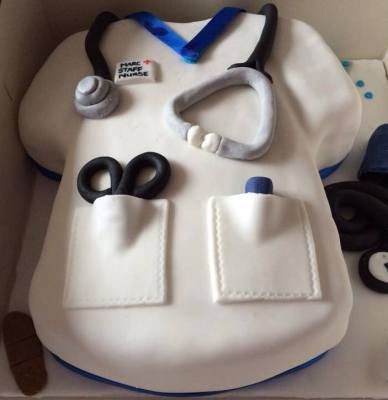 Doctor or Nurse Tunic Cake by NJL Creations
