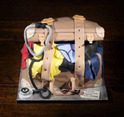 suitcase cake by NJL Creations