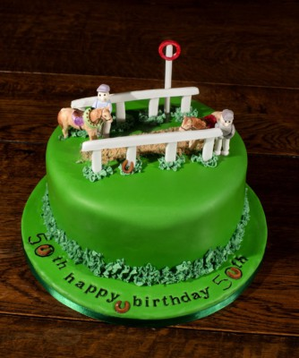 A day at the races horse riding cake by NJL Creations