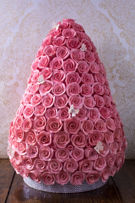 Rose Tower Cake by NJL Creations