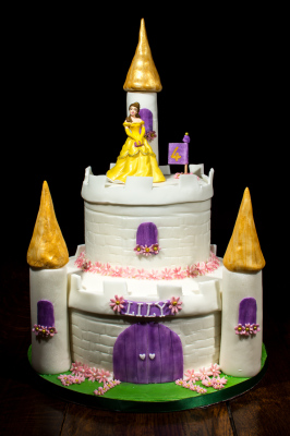 princess castle cake by NJL Creations