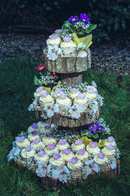 rustic woodland cupcake tower by njl creations