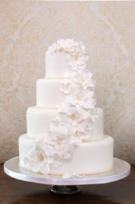 cascade wedding cake by NJL Creations