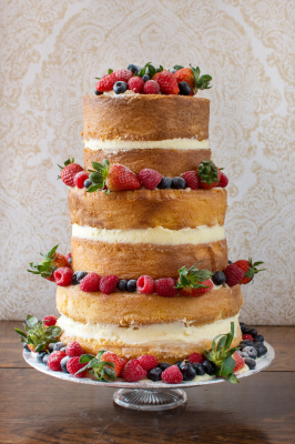Naked Wedding Cake by NJL Creations