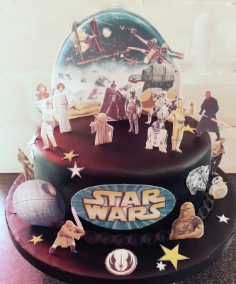 star wars cake by NJL Creations
