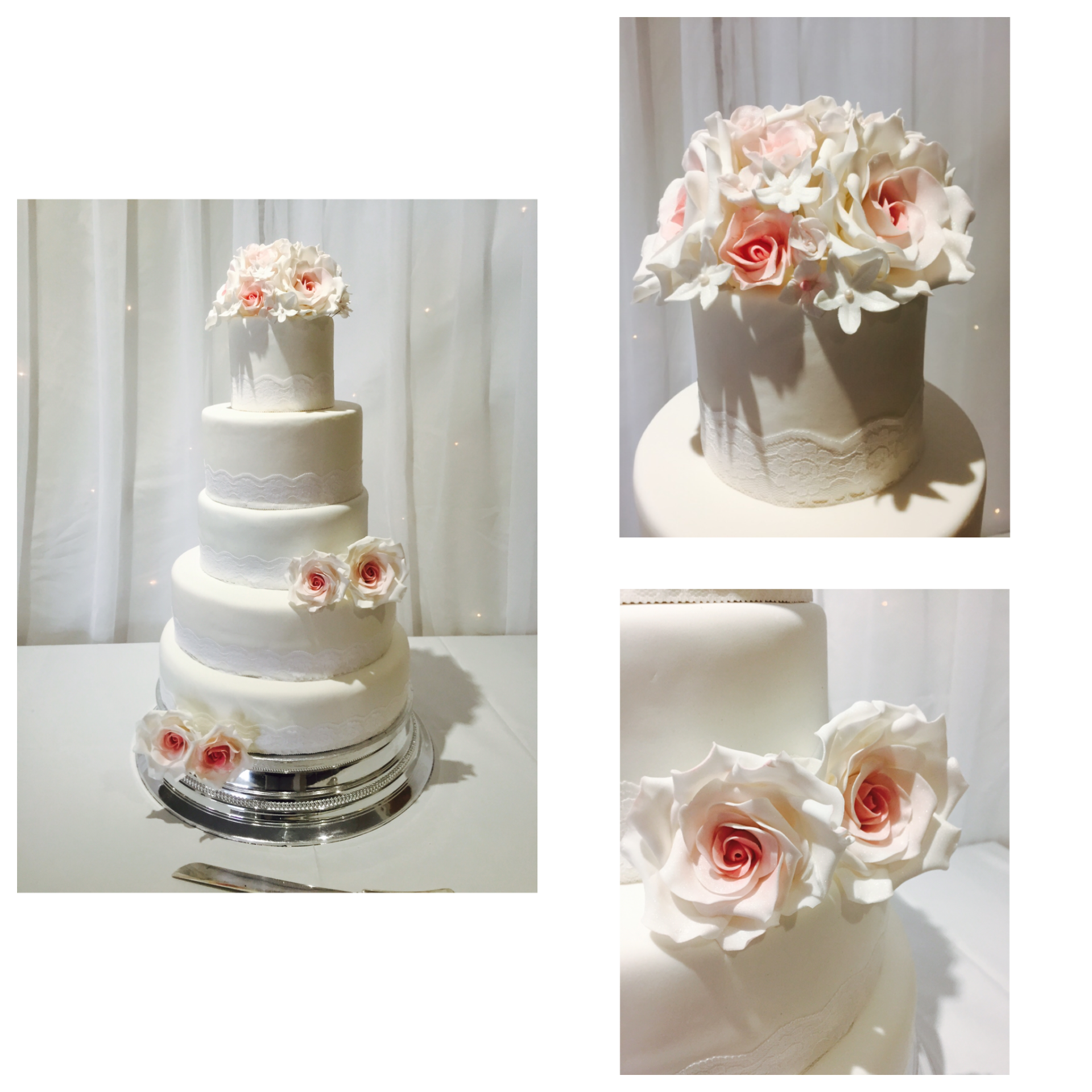 vintage beauty 5 tier wedding cake by njl creations