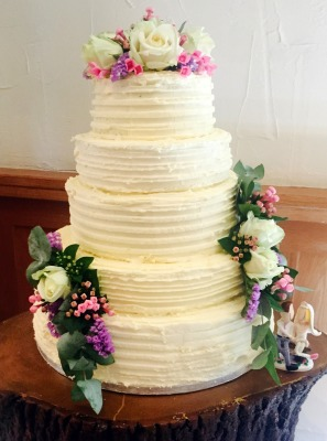 buttercream tower rustic beauty by njl creations
