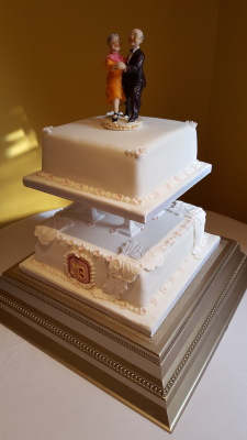 traditional square cake by njl creations