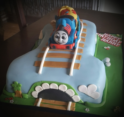 1st birthday thomas the tank engine cake by njl creations