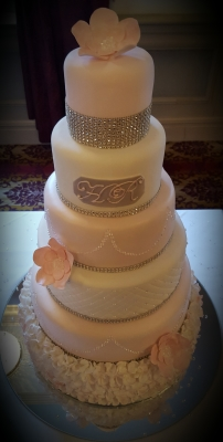 sparkles and frills 6 tier wedding cake by njl creations