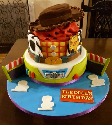 toy story buzz and woody cake by njl creations