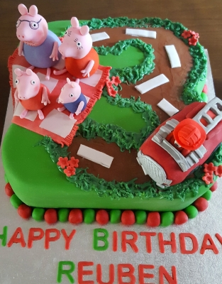 character birthday cake peppa pig by njl creations