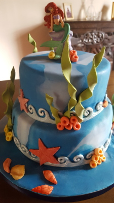 little mermaid cake by njl creations