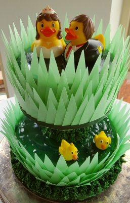 two little ducks wedding cake by njl creations
