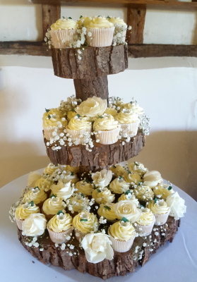 woodland rustic cupcake tower by njl creations