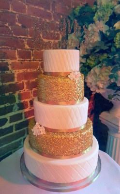 gold sequin cake from £500