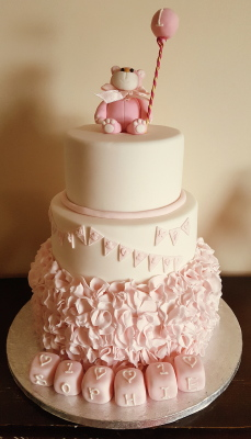 3 tier teddy bear christening cake from £150