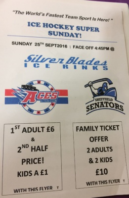 Sheffield Senators Special Price Offer