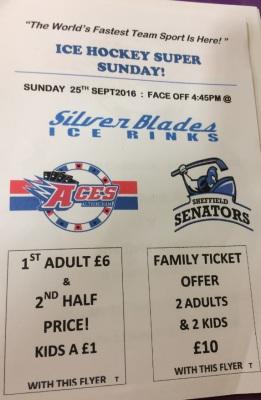 Sheffield Senators Special Price Offer