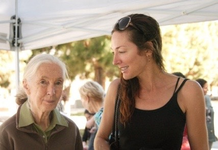 Kimberly meets Jane Goodall