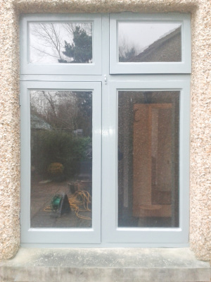 Exterior windows in Farrow and Ball.
