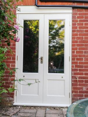 Exterior door in Farrow and Ball.